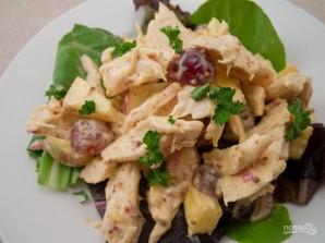 Салат с курицей и ананасом - фото шаг 4