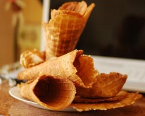 Вафельные рожки для мороженого - фото шаг 5