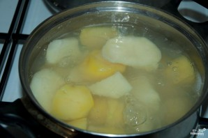 Сырный суп-пюре - фото шаг 1