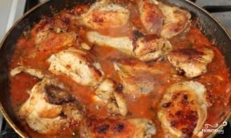 Тушеная курица с подливкой - фото шаг 8