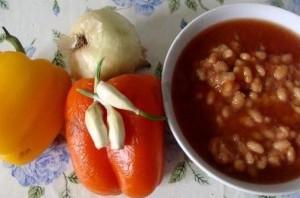 Рагу из фасоли с овощами - фото шаг 1