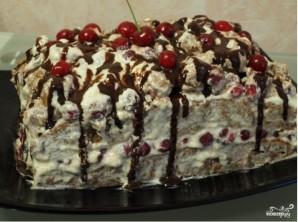 """Торт """"Вишневый поцелуй"""" - фото шаг 12"""