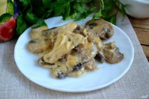 Грибы под сырным соусом - фото шаг 6