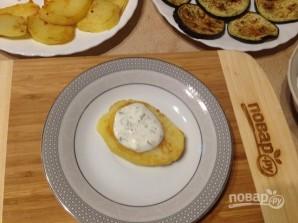 Баклажанно-картофельный мильфей - фото шаг 6