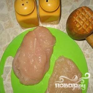 Куриное филе с грибами под сыром - фото шаг 1