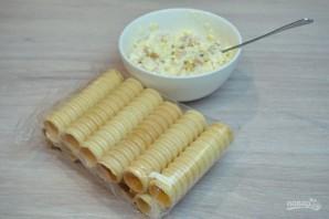 Вафельные трубочки с начинкой - фото шаг 5