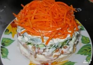 Cалат с корейской морковью и грибами - фото шаг 8