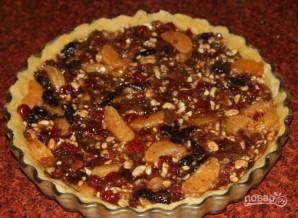 Рождественский пирог с сухофруктами и орехами - фото шаг 12