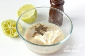 Салат из сардины в масле - фото шаг 6