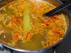 Чечевично-гороховый суп - фото шаг 4