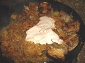 Тушеная картошка со свиными ребрышками - фото шаг 4