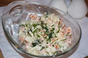 Салат из соленых огурцов и картошки - фото шаг 4