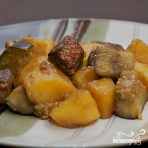Тушенная утка с баклажанами и картофелем - фото шаг 13