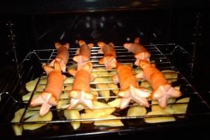 Картофель с сосисками в духовке - фото шаг 5