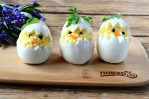 """Вареные яйца на Пасху """"Цыплята"""" - фото шаг 4"""
