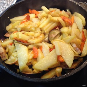 Баклажаны с картошкой - фото шаг 5