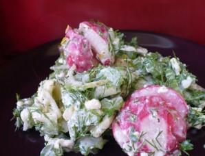 Легкий салат с зеленью - фото шаг 6
