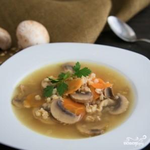 Грибной суп с ячменем - фото шаг 12