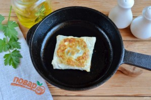 Лаваш с яйцом и шпинатом - фото шаг 9