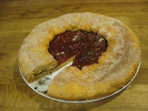 Пирог на сметане с вареньем - фото шаг 6