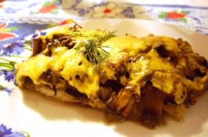 Рыба, запеченная с грибами и сыром - фото шаг 4