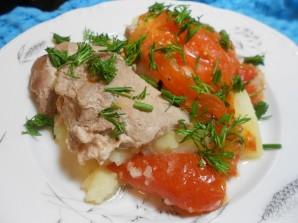 Свинина с помидорами и картофелем в мультиварке - фото шаг 6
