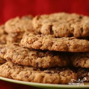 Овсяное печенье с шоколадом, вишней и орехами - фото шаг 3