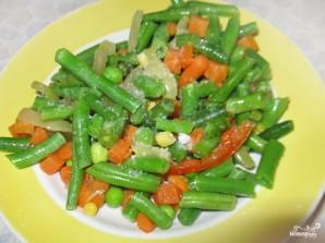 Кальмары, фаршированные овощами - фото шаг 2