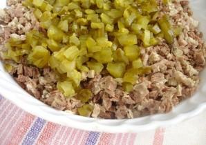 Салат с вареным мясом - фото шаг 4
