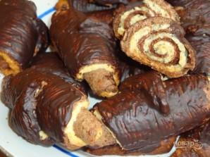 Шоколадные рогалики с кокосовой начинкой - фото шаг 5