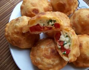 """Пирожки """"бомбочки"""" с помидорами - фото шаг 4"""