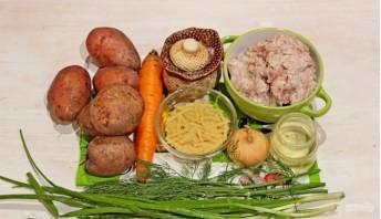 Суп (лапша с фрикадельками) - фото шаг 1