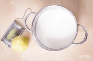 Заварной крем на молоке - фото шаг 1