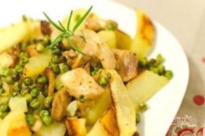 Курица с картофелем и зеленым горошком - фото шаг 3