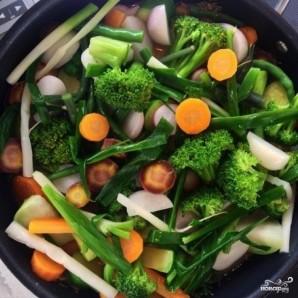 Тушеные овощи с лимоном, зеленью и сливочным маслом - фото шаг 8