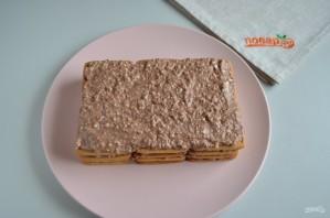 Торт без выпечки из печенья и творога - фото шаг 6