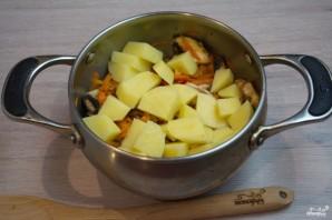 Суп на грибном бульоне - фото шаг 6