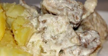 Мясо в сливочном соусе - фото шаг 6