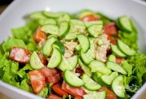 Салат с моцареллой - фото шаг 4
