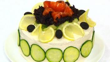 Торт бутербродный с рыбой - фото шаг 4