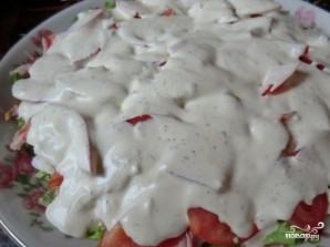 Салат с копченой курицей и сыром - фото шаг 4