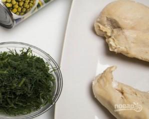 Салат из грибов и курицы - фото шаг 1