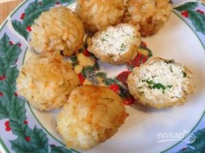 Куриные шарики в рисовой панировке - фото шаг 8