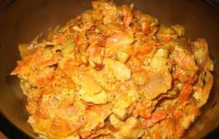 Бефстроганов из соевого мяса - фото шаг 8