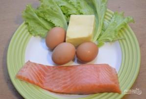 Салат с лососем и сыром - фото шаг 1