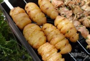 Картофель с салом на мангале - фото шаг 4