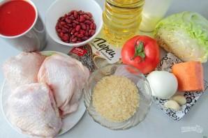 Курица с рисом и фасолью - фото шаг 1