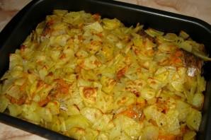 Щука в духовке с овощами - фото шаг 8