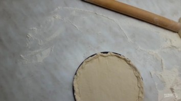 Пицца с грушей и горгонзолой (десертная) - фото шаг 3