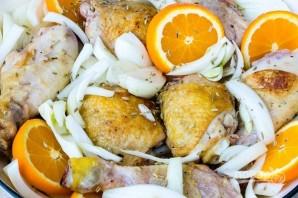 Запеченная курица с апельсинами и фенхелем - фото шаг 3
